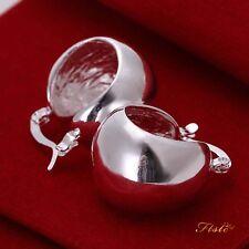 925 Sterling Silver Filled Gorgeous High Polished Ladies Hoop Dangle Earrings UK