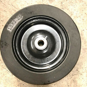 """10""""x3.25""""Solid Finish Mower Wheel Tire 3/4""""ID Manufacturing Defect SOLD AS IT IS"""