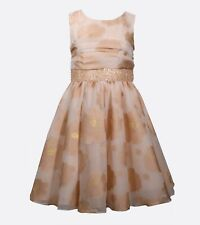 RINGAROSIES Gold Fancy Occasion Prom Confirmation Sequin Skater Dress Age 13/14