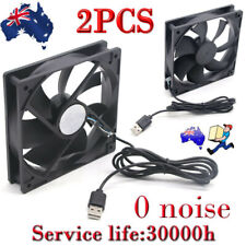 2PCS USB Cooling Fan Silent Fan Fr Computer Case PC CPU Case 5V 120x120x25mm AU