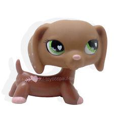 #556 Rare Littlest Pet Shop LPS Toys Pink Hearts Valentine Dachshund Dog Puppy