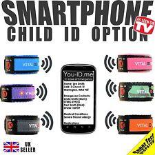 Child Safe Vital ID Wristband. Medical Identity Bracelet Allergy Asthma Diabetic