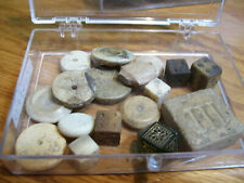 LOT of 17 GAMING PIECES ANCIENT ROMAN DICE  - CIRCA 1st - 3rd Century AD  Bone