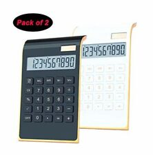 Desktop Calculator 10-Digit Dual Power Handheld with Large Lcd Two Pack