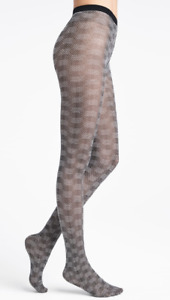 Wolford Womens Granular Poison Tights Black/White Size L $60 NWT
