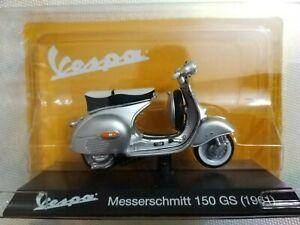 Model Grey Light Moto Vespa Messerschmitt 150 GS 1961 New Sealed