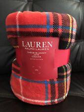 RALPH LAUREN Throw Blanket Tartan Plaid Extra Soft 60 x 70 Holiday Warm