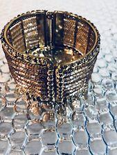 New Fashion Lady Jewelry Copper Tone Plated Thick Bracelet Bangle Wristband
