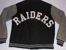 Chalk Line Oakland Los Angeles Raiders Vintage Black wool Jacket Medium N.W.A.