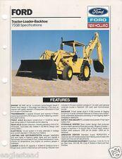 Equipment Brochure - Ford - 755B - Tractor Loader Backhoe Specs - 1988 (E1168)