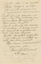 Marie LAURENCIN  Lettre autographe signée « votre Marie » à une amie