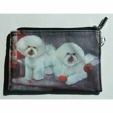 Bichon Frise Zippered Pouch Dog Breed Ruth Maystead Make up Pouch Coin Purse