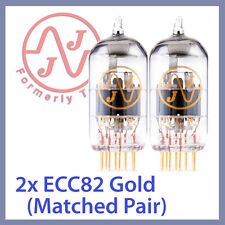 2x JJ Tesla 12AU7 / ECC82 Gold Pin Vacuum Tubes, Matched Pair TESTED