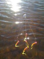 """Shad School Umbrella Rig "", Fishing In Florida, Tennesse, Alabama etc .045 wire"