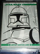 STAR WARS CLONE WARS ULTRA RARE SKETCH CARD COLOR TROOPER