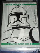 STAR WARS CLONE WARS ULTRA RARE SKETCH CARD COLOR TROOPER