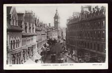 Wales Mon NEWPORT RP PPC Commercial St Trams
