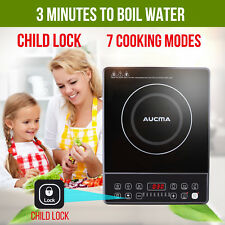 AUCMA Chef Electric Induction Cooktop Portable Kitchen Cooker Ceramic Glass Top