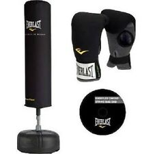 Everlast Cardio Strike Punching Freestanding Fitness Kickboxing Bag Kit w gloves