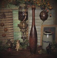 Prim Antique Vtg 1880's Grain Painted Juggling Circus Club Exercise Bowling Pin