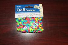 Darice Craft Designer Assorted Acrylic Beads Neon. 6mm #0726-94 300 pieces!