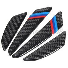4pcs Door Scratch Bumper Carbon Fiber Scuff Car Accessories 3D Stickers For BMW