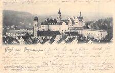 Alte Foto AK@ Gruss aus Sigmaringen@Blick auf Schloss, Panorama@ca 1900@Bahnpost