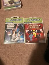 (2) Leap Frog Leapster Games Star Wars & Wolverine And The X-men