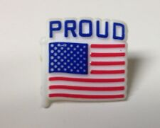 "American Flag Pins: ""PROUD""   5,000 each NEW Made in USA"