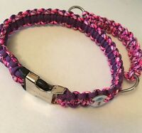 Agility Paracord Dog Collar - Cobra Style with Grab Handle