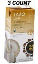 Tazo Black Tea Concentrate, Organic, Chai Latte 32 fl oz (3 COUNT)