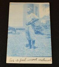 Rare Original 1908 BASEBALL PLAYER in Uniform Stamped Postcard-Andover Ohio