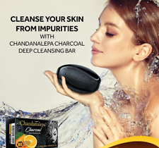 Pure Natural Charcoal, CHANDANALEPA Herbal Soap with worldwide free Shipping
