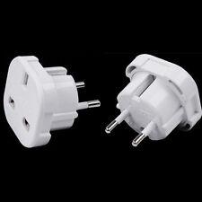 UK TO EUROPE EU - Travel Adapter Power Plug Convertor 3 Pin To 2 Pin ROUND C ZT