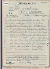 K1000) prisioneros de guerra post francos belgas Nápoles 8.11.45 a Hannover