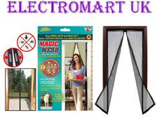 Magic Mesh tenda porte magnetico Mani Libere Fly Bug Zanzara ZANZARIERA Nero