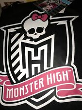 """Monster High Tote And Throw Set Kids Color black Pink New 40"""" X 50"""""""