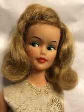 Vintage Ideal Glamour Misty Doll Blonde Tammy Family In Red/Gold Brocade Dress