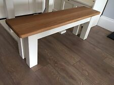 5ft Solid Wood Farmhouse Dining Bench Square Legs