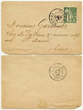 FRENCH INDOCHINA COLONIES 5c POSTAL STATIONERY PRINTED MATTER UNSEALED 1895
