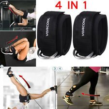 1 Pair Foot Ankle Strap for Cable Machine Attachment - Gym Fitness Training+ Bag