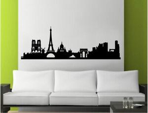 Paris skyline wall sticker | Paris city wall decal | Paris silhouette sticker