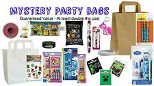 Filled MEDIUM BOYS MYSTERY PARTY BAG Quality Items Stationery Games Collectibles