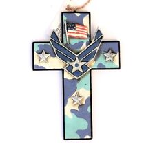 Air Force Cross Ornament US Militaria New Patriotic 5x3 1/4 inch