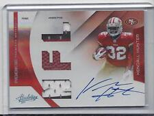 KENDALL HUNTER 2011 ABSOLUTE RPM TRIPLE 3 COLOR PATCH BALL ON CARD AUTO RC /25