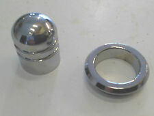 5 x Chrome on Brass Push Button & Bezel for Push button latches Location eBox 16