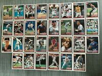 1991 CLEVELAND INDIANS Topps COMPLETE Baseball Team SET 30 Cards ALOMAR CARTER!