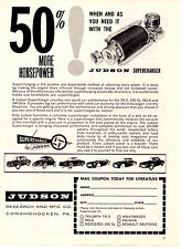 1959 190SL - VW - GHIA - MGA - DAUPHINE  - TR-3 ~ ORIG JUDSON SUPERCHARGER AD