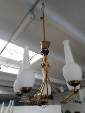 -Un lampadario in ottone e vetro anni '50 - italian chandelier (#stilnovo kword)