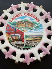 Vintage Souvenir Plate Laurel Caverns Uniontown Pennsylvania